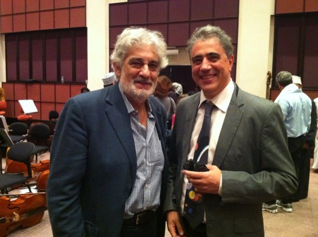 Fernando Fracassi and Placido Domingo