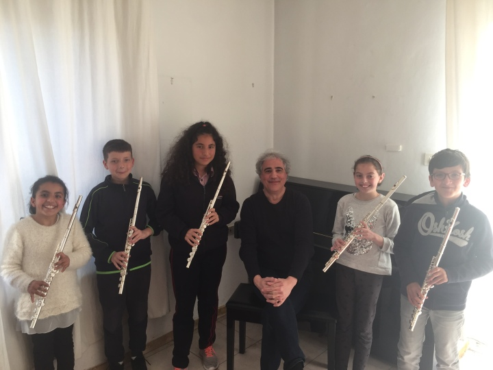 Flute students at Barenboim-Said Foundation, ramallah, 2019