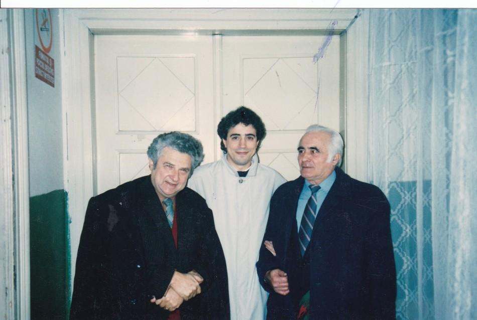 Ervin Acel, Fernando Fracassi and Miron Ratiu at Oradea´s Philarmonic Orchestra (Romania, 1991)