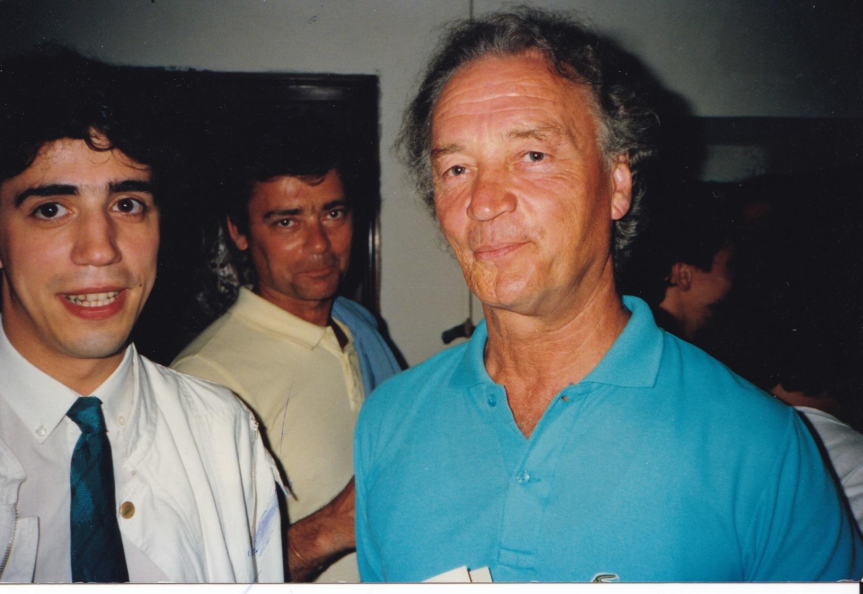 Fernando Fracassi and Conrad Klemm during a masterclass (Castelsardo, Sassari , 1983)